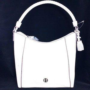 NWT Gianni Bernini Ivory Peeble hobo handbag